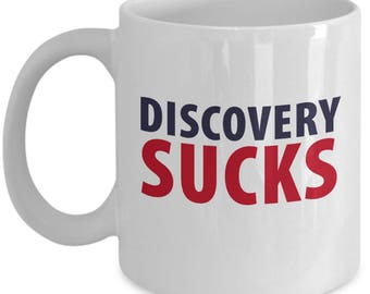 Discovery Sucks Funny Lawyer Attorney Gift Mug Coffee Cup Hilarious
