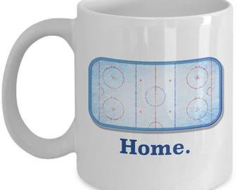 Home Ice Hockey Rink Goalie Mug Gift for Player Goaltender Coffee Cup
