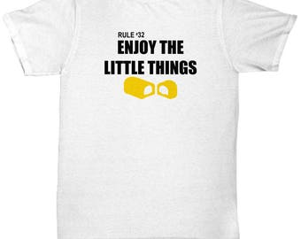 Zombieland Rule #32 Enjoy the Little Things Funny Gift Shirt Movie Quote Zombie Land Zombies