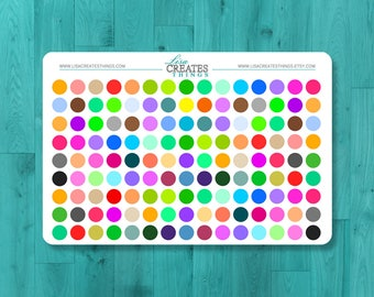 Various Coloured Dots Stickers for planners and planning needs
