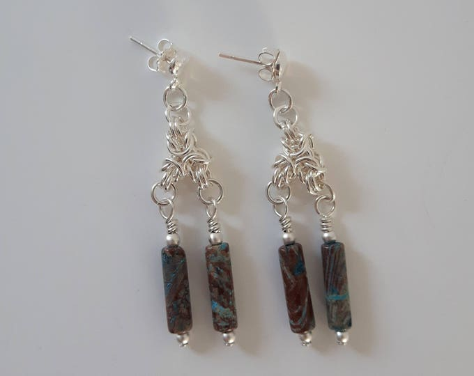 Byzantine Kelp Earrings (Post and Nugget Style) - CLEARANCE