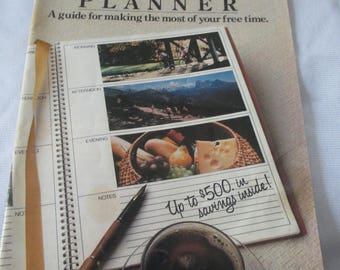 "Vintage 1984 ""Sanka - Free Time Planner - advertising booklet of Sanka Coffee -  from Colletors estate -  Estate find!"