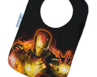 Ironman Baby Bib • Superhero Upcycled Tshirt Bib • Baby Shower Gift •