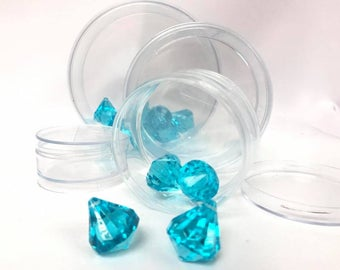 12 Clear Plastic Round Candy Favor Boxes with Cover Party Supplies