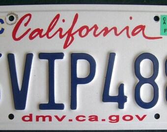 CALIFORNIA 6VIP488 American License Number Plate