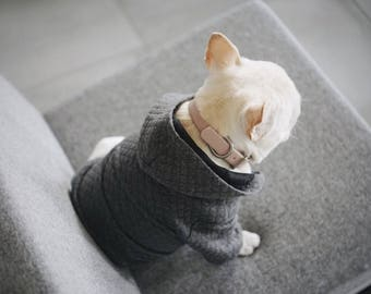 Quilted Dog Hoodie