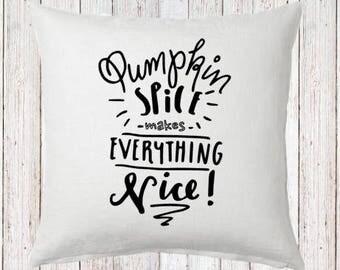 Pumpkin Spice Fall Pillow and Insert; Fall Decoration; Fall Leaves; Fall Colors; Custom Fall Decor; Farmhouse Fall
