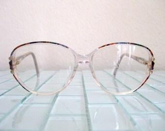 Oleg Cassini Mod Glasses - Clear Multi-color Glasses