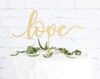 Love Cake Topper, Wedding Cake Topper, Cake Topper For Wedding, Trending Cake Topper, Gold Wedding Decor, Rose Gold Wedding Decor