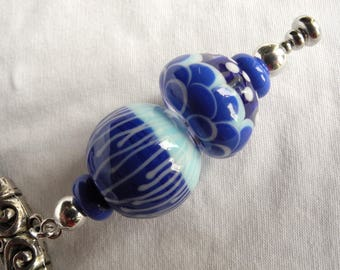 scales necklace with Lampwork Glass Beads. The Lampwork beads