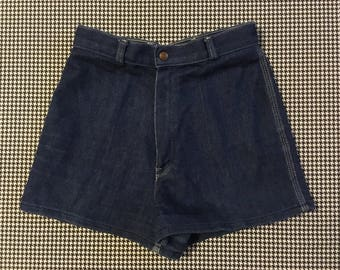 1980's, high waist, denim shorts, Women's size Medium/Large