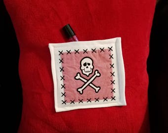 Pirate Themed Pillow for a Boy with Sleep Oil Pocket or Tooth Fairy Pocket