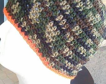 Skull cap, crochet beanie, handmade beanie
