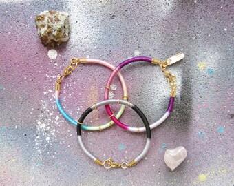 AMAZONE #3 - bracelets fins bohême chic, set de bracelets colorés, bracelet été, bracelet ethnique chic, bracelet corde, bracelet fin,bohême