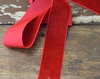 10 yard roll of red velvet ribbon
