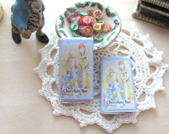 beatrix potter peter rabbit chocolate bar dollhouse 12th scale miniature