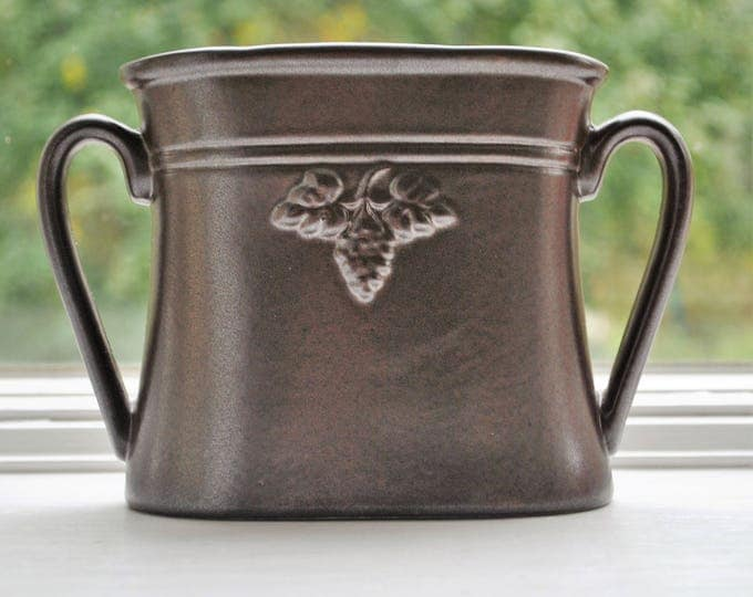 Swedish Hoganas Brown Stoneware Vase Rare