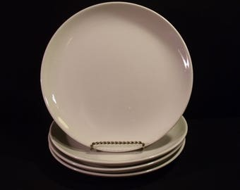Russell Wright Iroquois Casual White Dinner Plate set of 4
