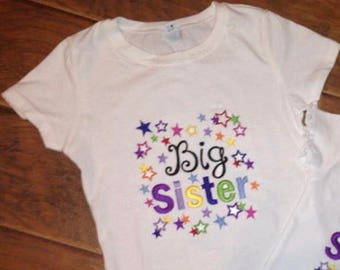 Big Sister Embroidery Design Only