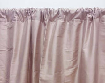 Blush Pink Curtains, Silk Curtains, Dupioni Silk, Dusty Rose, Solid Curtain  Panels