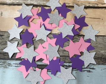 150pcs twinkle little star confetti it's a girl baby shower birthday decoration star party glittery star confetti table centrepiece 4.5cm