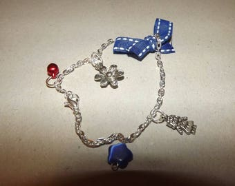 Blue knot bracelet or foot