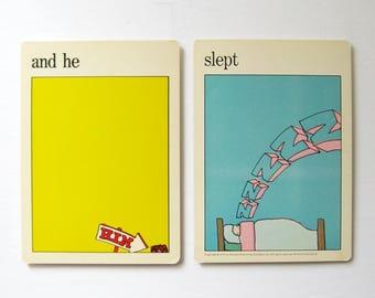 and he slept - 2 Sleeping Pop Art Prints - Vintage MOMA Art Cards - Bedroom Wall Decor - Mid Century Modern Art Decor - Museum of Modern Art