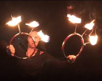 Custom Taped Hoop Fire Fans