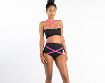 Exit Left Two Piece High Waist Swimsuit