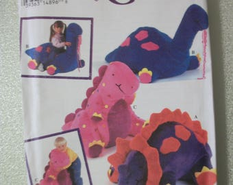 Simplicity 8791 all size Dinosaur pillows