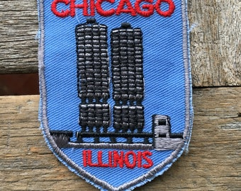 Chicago Illinois Vintage Souvenir Travel Patch by Voyager