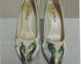 Wedding Shoes, Party Shoes, Hand painted Decorated Shoes. Special Occasions Shoes