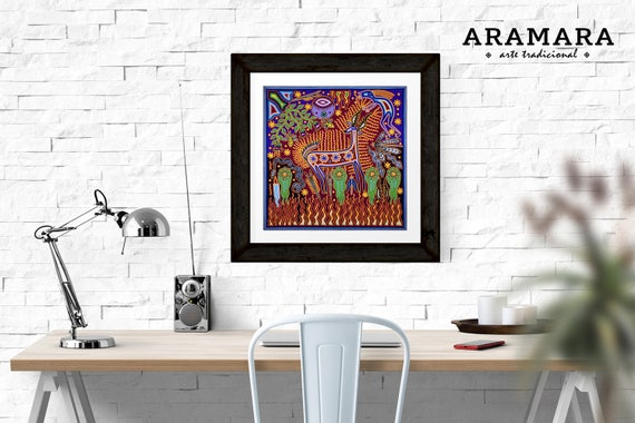 mexican painted furnitureMexican Painting Mexican Art Digital Print Huichol Art