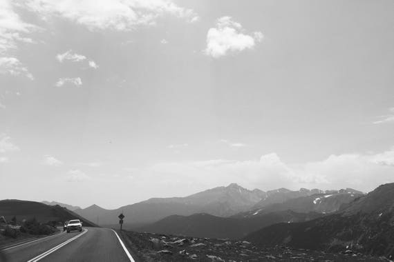 Mountain Road Black and White Fine Art Photography Print