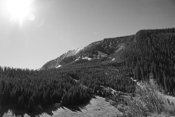 Fine Art Photography | Curling Mountain Black and White  Print | Wall Art