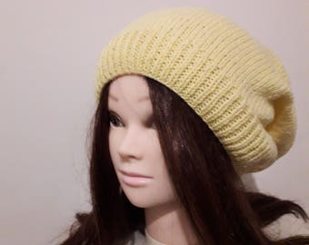 Hand knitted Slouch Hat Sloucher Gift for Her