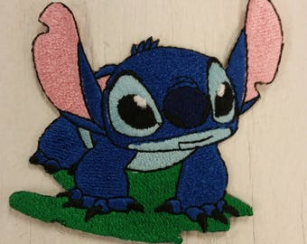 Cartoon Embroidered Patch, Cute Alien Patch, Blue Alien Patch, Iron on Stitch
