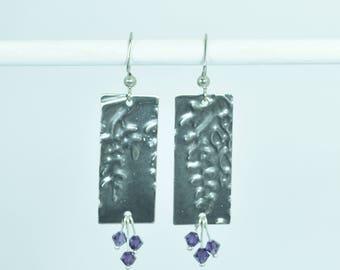 Blooming Metal Wysteria Earrings