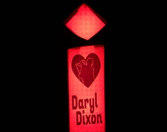 Upcycled channel letter i i heart Daryl The Walking Dead