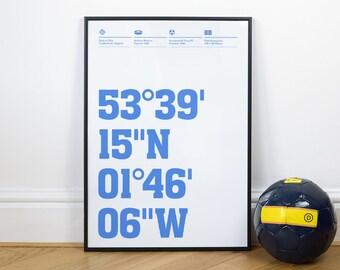 Huddersfield Town Football Stadium Coordinates Posters