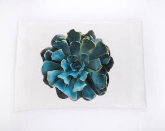 Succulent Placemat, Dining Room Decor, Functional Art, Modern Home, Kitchen, Dining Napkins, Table Linens, Spring, Mother's Day