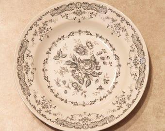 4 Comptoir de Famille CAMILLE GRIS Soup Plates - Set of 4