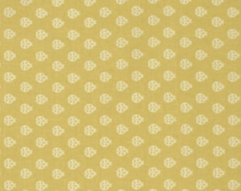 Lady Bug in Mustard from True Colors by Tula Pink for Freespirit Fabrics, by the fat quarter or half yard