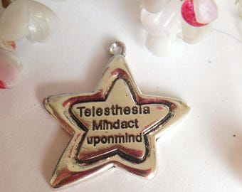pretty pendant with silver metal star
