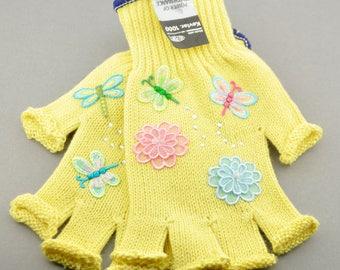 Kevlar Fingerless Gloves - Medium - Butterflies and Flowers