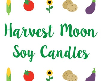 Harvest Moon Inspired Soy/Coconut Candles