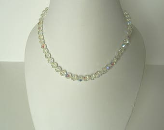 Vintage  aurora borealis crystal necklace