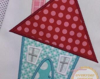 Little House 2 Machine Embroidery Applique Design