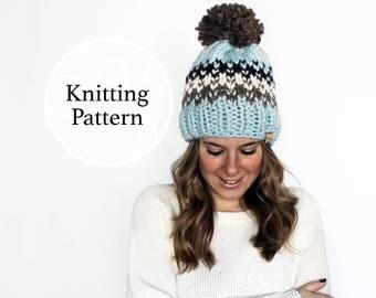 Knitting Pattern Ellicott Hat Instant Download