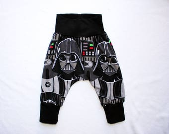 darth vader harem pants 0 to 24 months 2t to 6 baby star wars outfit toddler